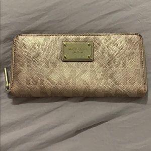 Rose gold wallet